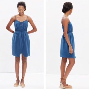 Madewell 100% silk Sandstar teal mini dress - 6